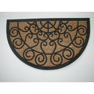 Tuffcor Panama Scroll Doormat Mat Size: Semi-Circle 18