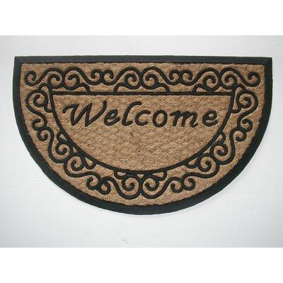 Tuffcor Panama Scroll Welcome Doormat Rug Size: 18 x 30