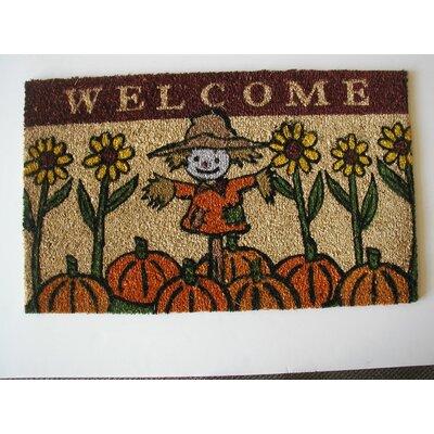 Scarecrow Doormat Rug Size: 18 x 30