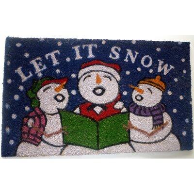 Snowmen Doormat Rug Size: 18 x 30