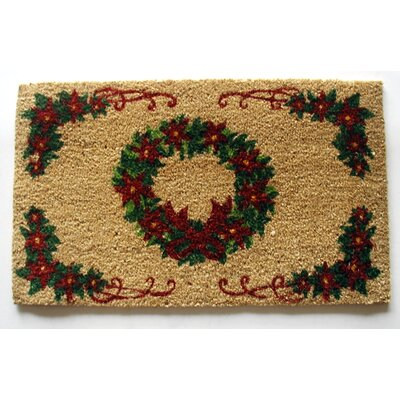Wreath Doormat Mat Size: Rectangle 18 x 30