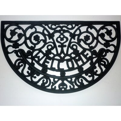 Welcome Scroll Doormat Mat Size: Semi-Circle 18