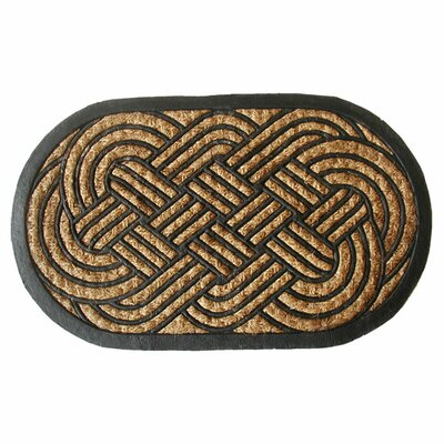 Tuffcor Panama Lovers Knot Doormat Mat Size: Oval 18