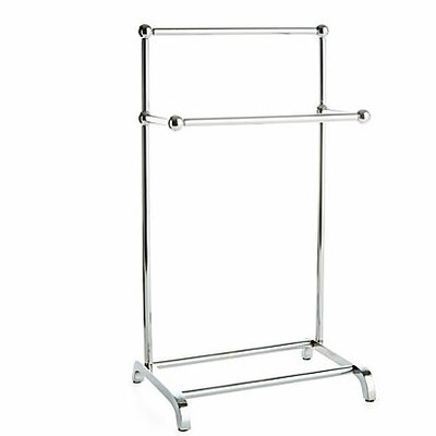 Taymor Industries Free Standing Mini Two Tier Towel Stand - Finish: Chrome