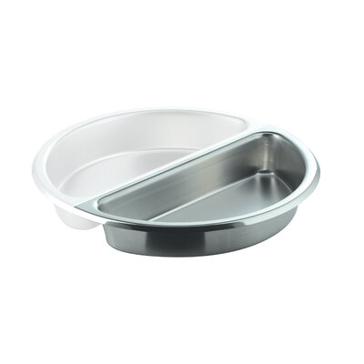 Large Round 1 / 2 Stainless Steel Food Pan