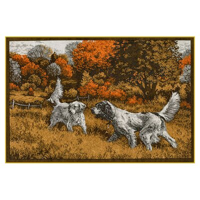 Wildlife Setters Brown/Gray Area Rug Rug Size: 3'1