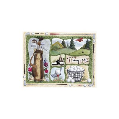 """Custom Printed Rugs Home Accents Tee Time Area Rug - Size: 37"""" x 52"""" x 0.125"""""""