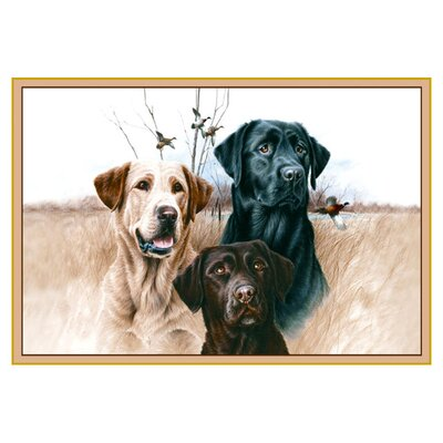 Wildlife Great Hunting Dogs Black/Brown Area Rug Rug Size: 31 x 44