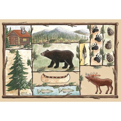 Home Accents Cabin Area Rug Rug Size: 31 x 44