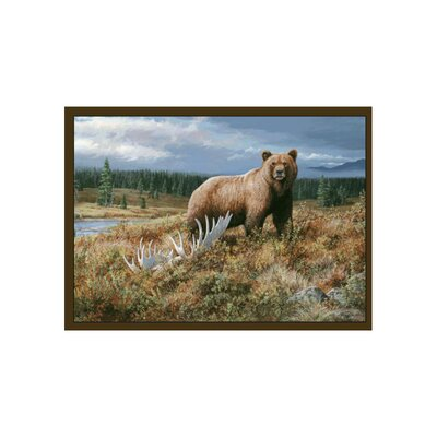 Wildlife Grizzly Novelty Outdoor Area Rug Rug Size: 31 x 44