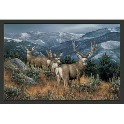 Wildlife Last Glance Mule Deer Novelty Outdoor Area Rug Rug Size: 31 x 44