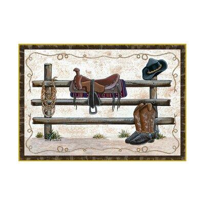 Home Accents Western Area Rug Rug Size: 3 x 44