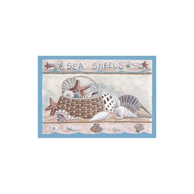 Home Accents Seashells Area Rug Rug Size: 31 x 44