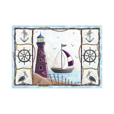 Home Accents Lighthouse Area Rug Rug Size: 31 x 44