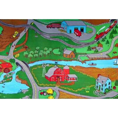 Custom Printed I Area Rugs Farm Rug Size: Rectangle 3 x 5