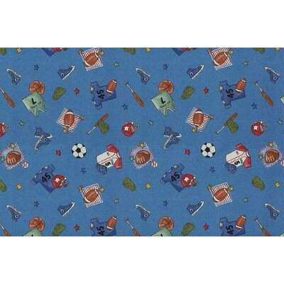 Childrens Play Ball Area Rug Rug Size: Rectangle 4 x 6