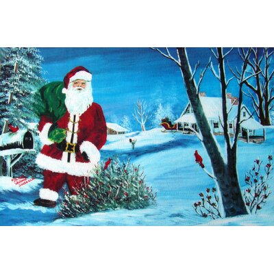 Holiday Santa Doormat