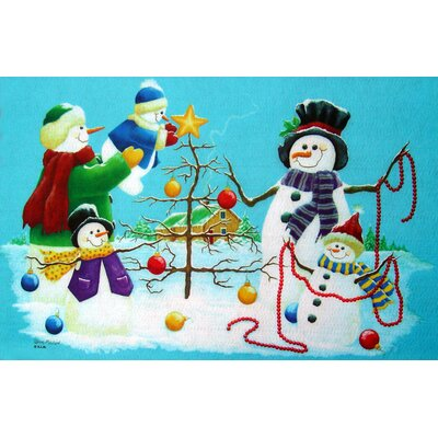 Holiday Snowmen Doormat
