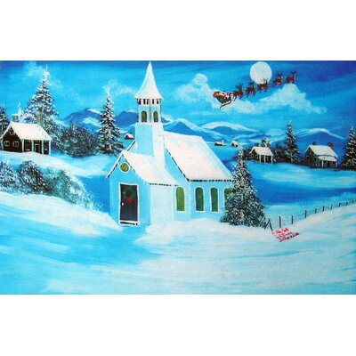 Holiday Snowy Chapel Doormat