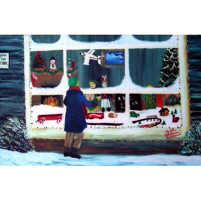 Holiday Window Shopping Doormat