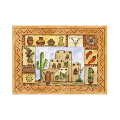 Southwestern Fun Area Rug Rug Size: Rectangle 44 x 31