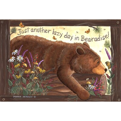 Lazy Bear Doormat