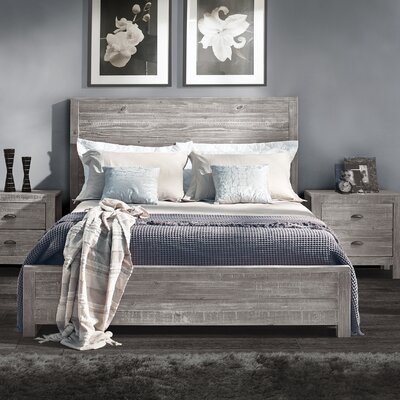 Montauk Panel Bed Size: Queen, Finish: Rustic Gray