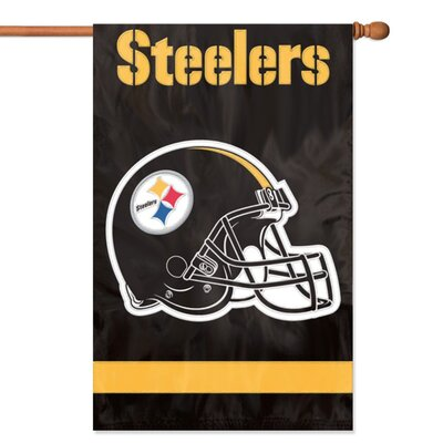 NFL Appliqu� House Flag NFL Team: Pittsburgh Steelers AFST