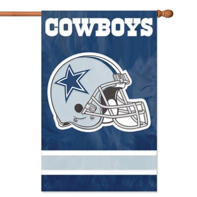 NFL Appliqu� House Flag NFL Team: Dallas Cowboys AFDA