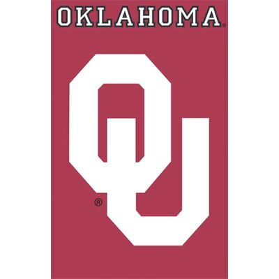 NCAA Appliqué House Flag NCAA Team: Oklahoma