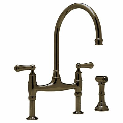 Perrin and Rowe Deck Mount Two Handle Widespread Kitchen Faucet Finish: English Bronze