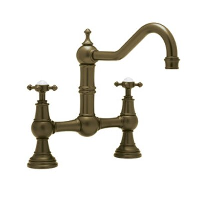 Perrin and Rowe Double Handle Provence Kitchen Faucet Finish: English Bronze