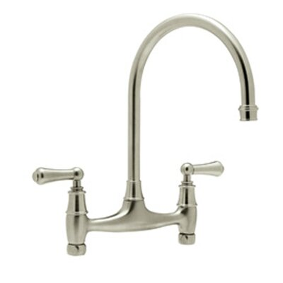 Perrin and Rowe Double Handle Kitchen Faucet Finish: Satin Nickel