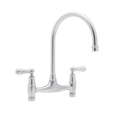 Perrin and Rowe Double Handle Kitchen Faucet Finish: Polished Chrome