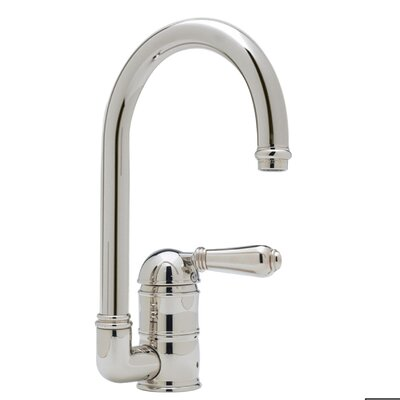 Country Single Handle Kitchen Faucet with Side Spray Finish: Satin Nickel