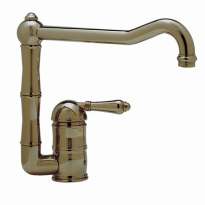 Country Single Handle Kitchen Faucet with Side Spray Finish: Tuscan Brass, Side Spray: Without Side Spray, Handle Type: Metal lever