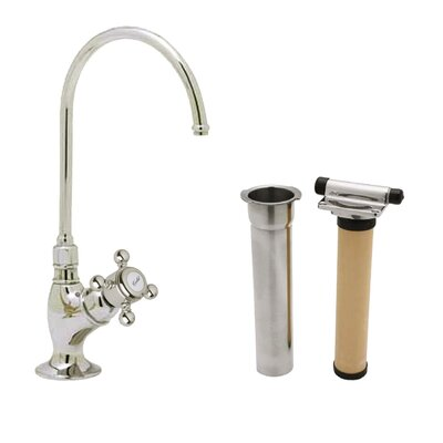 Country Single Handle Kitchen Filter Faucet with Column Spout Finish: Tuscan Brass