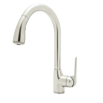 De Lux Single Handle Bar Faucet with Side Lever Pull Down Finish: Polished Nickel