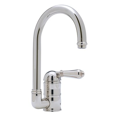 Country Single Handle Kitchen Faucet with Side Spray Finish: Polished Chrome
