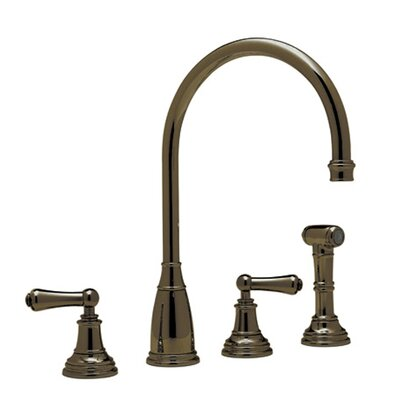 Perrin and Rowe Double Handle Athenian Kitchen Faucet with Lever Handle Finish: English Bronze