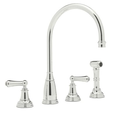 Perrin and Rowe Double Handle Kitchen Faucet Finish: Polished Nickel