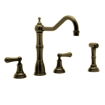 Perrin and Rowe Double Handle Alsace Kitchen Faucet Finish: English Bronze