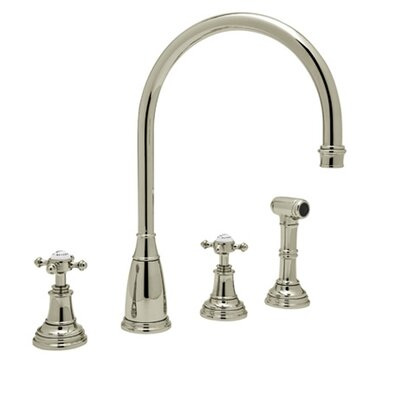 Perrin and Rowe Double Handle Athenian Finish: Satin Nickel