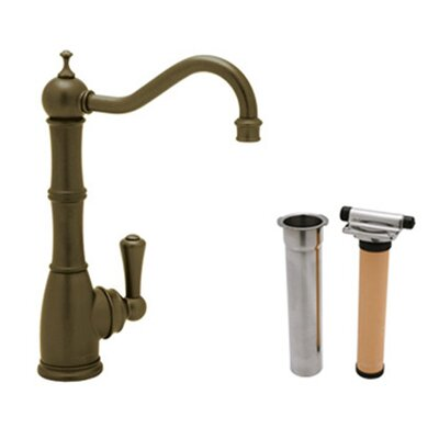 Perrin and Rowe Single Handle Kitchen Filter Faucet Finish: Satin Nickel