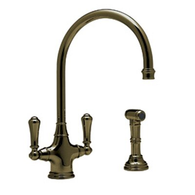 Perrin and Rowe Double Handle Mono Dual Lever Phoenician Kitchen Faucet Finish: English Bronze