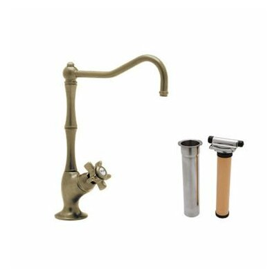 Country Single Handle Kitchen Filter Faucet with Column Spout