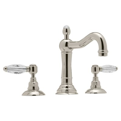 Country Widespread Double Handle Bathroom Faucet with Drain Assembly Finish: Polished Nickel