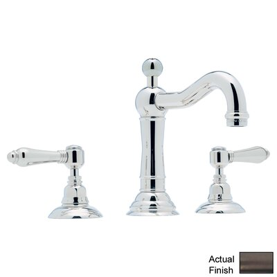 Rohl A1409LM-2 Country Bath Low Lead Widespread with Metal Lever Handles and Pop-Up Drain Finish: Tuscan Brass