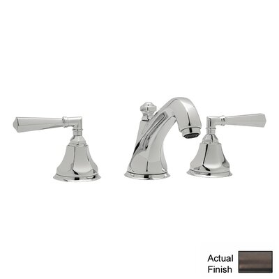 Palladian Double Handle Widespread Bathroom Faucet with Pop-Up Drain and Lever Handle
