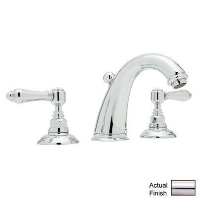 San Julio Double Handle Widespread Bathroom Faucet with Lever Handle and Pop-Up Drain Finish: Polished Nickel
